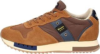 Blauer Scarpe Sneaker Running MOD. Queens in Suede/Tessuto Nero/Giallo U21BU04