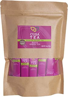 Cusa Tea: Peach Green Premium Instant Tea - Real Fruit and Spices - No Sugar or Artificial Flavors - Make Hot & Cold Tea i...