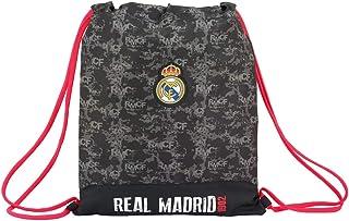 Real Madrid Bolsa de Cuerdas para el Gimnasio, 40 cm, Negro