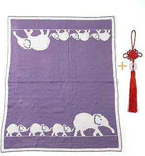 Super Soft Warm Knitted Baby Blanket,Newborn Baby Stroller Out Blanket,Purple