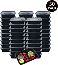 HOMEE Meal Prep Containers 50 Pack/26oz Reusable Food Storage Containers Bento Lunch Box with Lids Made of BPA Free Plastic, Stackable, Microwavable, Freezer, and Dishwasher Safe Gift