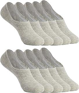 comprar comparacion YOUCHAN Calcetines Mujer Hombre 10 Pares Tobilleros Invisibles Antideslizante Algodon Silicona Calcetines Verano