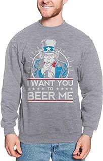 I Want You to Beer Me - Uncle Sam USA Unisex Crewneck Sweatshirt