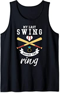 Bachelorette Baseball Wedding Last Swing Before the Ring Tank Top