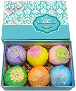 Bath Bombs Ultra Lux Gift Set - 6 XXL Fizzies with Natural Dead Sea Salt Cocoa and Shea Essential Oils - Best Gift Idea fo...