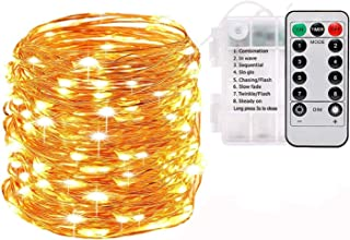 LED String Lights Battery Powered, Reayouth Indoor Fairy Lights Waterproof 100LED/33ft with Remote Control Christmas Decor...