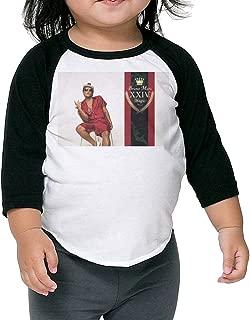 Baby 24K Magic Bruno Mars 3/4 Sleeve Plain Raglan T Shirt Baseball Graphic Tops