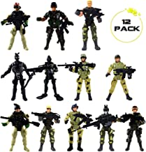 DC-BEAUTIFUL 12 Pack Military Soldier Special Forces SWAT Counter-Strikes Joint Movable Elite Doll Model with Weapon