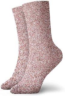tyui7, Rose Gold Bling Bling Calcetines de compresión antideslizantes Cosy Athletic 30cm Crew Calcetines para hombres, mujeres, niños