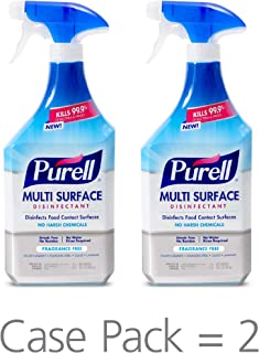 PURELL Multi Surface Disinfectant Spray – Fragrance Free, VOTED 2018 PRODUCT OF THE YEAR - 28 oz. Spray Bottle (Pack of 2) - 2846-02-EC