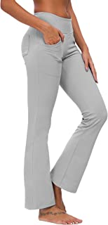 Ourcan Bootcut Yoga Pants for Women with Pockets Sweatpants Womens Stretch Leggings Tummy Control Workout Pants