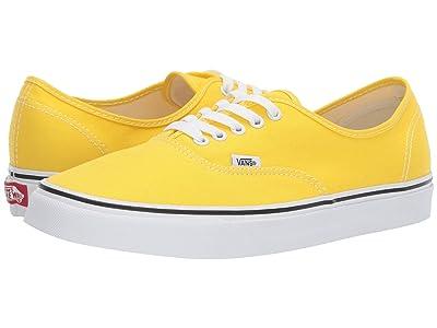 Vans Authentictm (Vibrant Yellow/True White) Skate Shoes