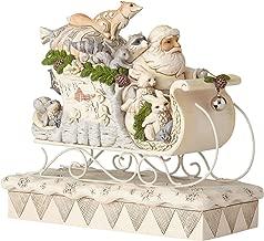 Enesco Jim Shore Heartwood Creek 6001410 White Woodland Santa in Sleigh, Multicolor