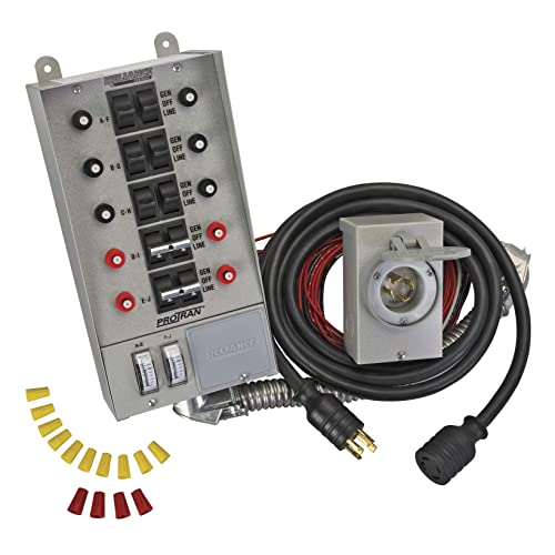 reliance controls corporation 31410crk 30 amp 10-circuit pro/tran transfer  switch kit for