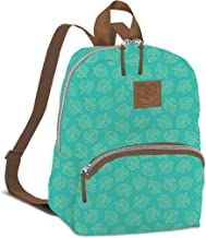 Controller Gear Animal Crossing: New Horizons Bag & Mini Backpack for Women, Girl's, Kids. Nintendo Switch, Lite Case, Accessories, Travel Bag, Carrying Case. Teal Leaf Pattern. - Nintendo Switch