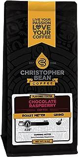 Christopher Bean Coffee Flavored Ground Coffee, Chocolate Raspberry, 12 Ounce