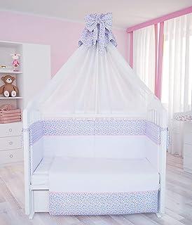 Polini Kids Baby Bett-Set Wäsche Set 120x60Charme 7-tlg, 0001265