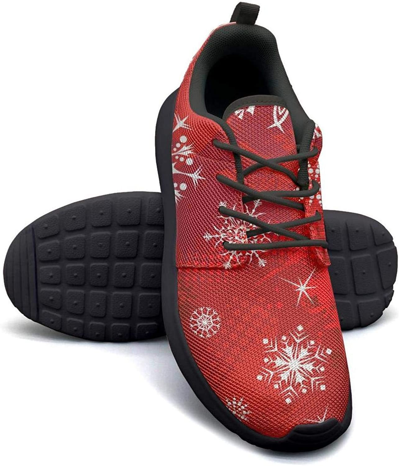 Gjsonmv Merry Christmas Snowflakes mesh Lightweight shoes for Women Comfortable Sports Athletic Sneakers shoes