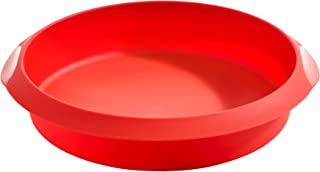 Lékué Redondo 20 Rojo Molde repostería, Silicona, 20 cm