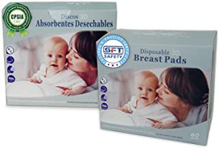 Oleh-Oleh Stay Dry Disposable Nursing Pads for Breastfeeding, Super Thin, Leak Proof and Excellent Absorbent 120 Count (2 Pack, 60 Count Each)