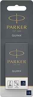 Parker Long Cartridge Blue/Black Blister (Pack of 5)