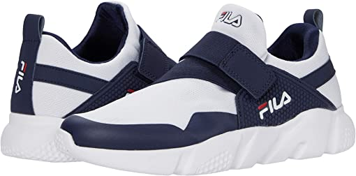 White/Fila Navy/Fila Red