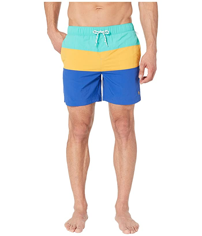 4e88f70c85 Original Penguin Color Block Elastic Waist Swim Shorts (Cadmium Yellow) Men