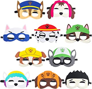 PANTIDE 10Packs Paw Patrol Puppy Party Masks - Paw Patrol Birthday Cosplay Character Party Supplies for Kids