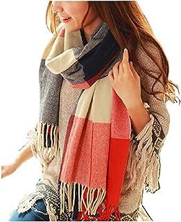 Womens Scarf Fashion Long Plaid Shawls Wraps Big Grid...