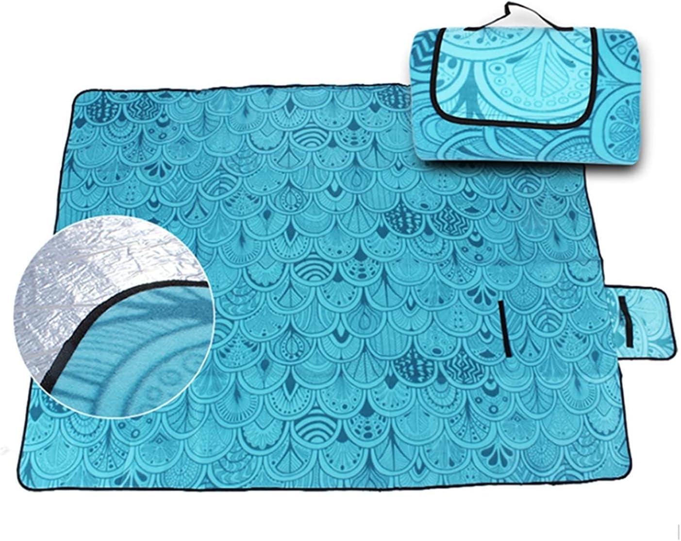 yangmeng Over item handling ☆ 2x1.5m Waterproof Year-end annual account Folding Picnic Camping Outdoor B Mat
