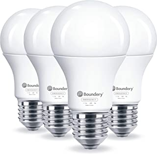 Boundery Emergency Power Failure LED Light Bulb - Safety During Power Outage - Lights Up Automatically When Power Fails - Rechargeable Battery - Works Like Ordinary Bulbs - 3500K Hurricane 9W 120V 60W