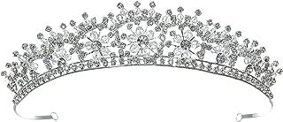 Handmade Bridal Snowflake Rhinestone Crystal Prom Wedding Tiara Crown T1125
