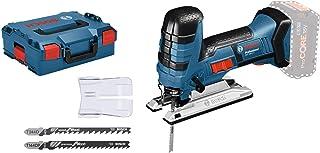 Bosch Professional GST 18 V-LI S Sierra de calar, 550-2.700 cpm, profundidad de corte 120 mm, sin batería, en L-BOXX, Azul