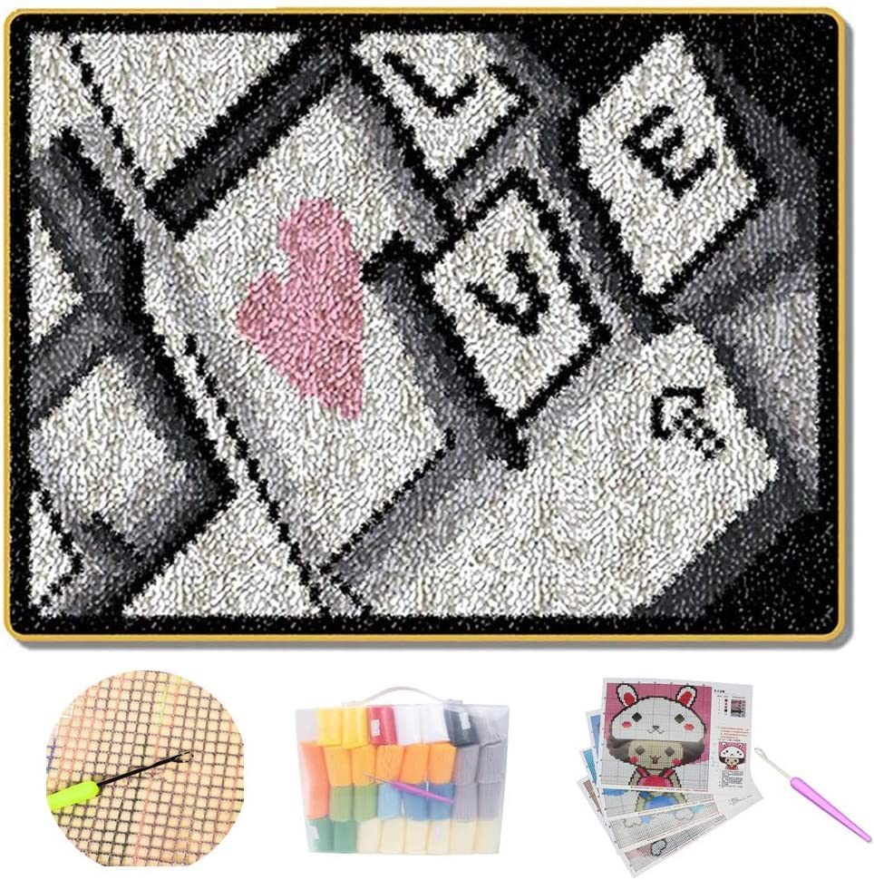 Latch Hook Complete Cushion Cover Kit DIY Crocheting Needlework 100% quality ! Super beauty product restock quality top! warranty