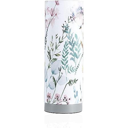 Pauleen 480.04 48004 Flowery Romance Max.20W luminaire à PoserE14 Lampe de Chevet Blanc Vert Rose Bleu 230V Tissu/béton sans Ampoules, Flower