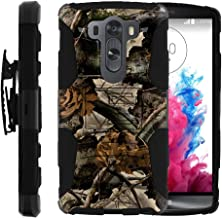 TurtleArmor | Compatible with LG V10 Case | LG G4 Pro Case [Hyper Shock] Hybrid Dual Layer Armor Holster Belt Clip Case Kickstand - Tree Leaves Camouflage