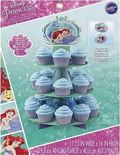 Wilton 1512-5660 Disney Princess Little Mermaid Ariel Cupcake Stand, Assorted