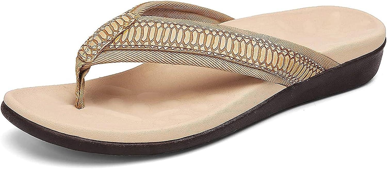 SERIMINO Orthotic latest Easy-to-use Flip Flops for Women Sandals Plantar Fasciitis