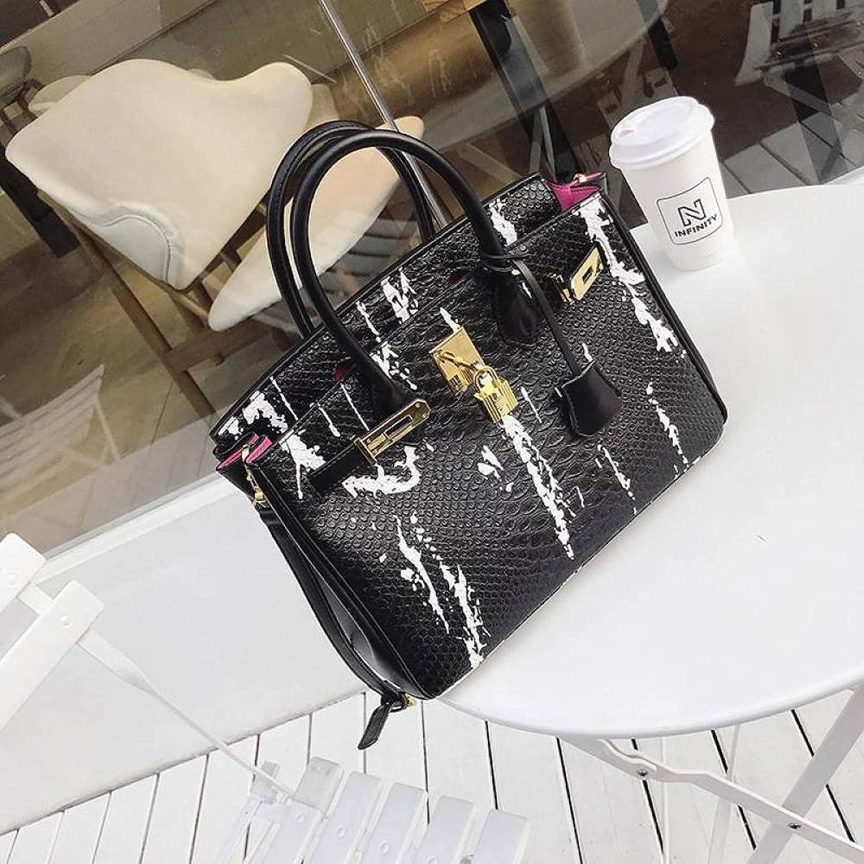 CATS Tragbares großes Taschenschlangenmuster der europäischen und Amerikanischen Mode, Das Eine Schulter Slung Handtasche spritzt YTTY B07FZ837T4