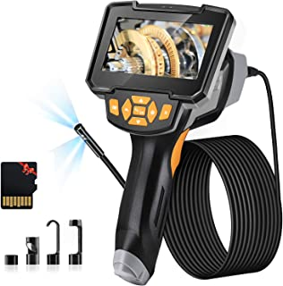 Endoscope Camera Dual Lens, Elikliv 1080P Handheld Inspection Borescope Camera with Light/32GB Card, 16.4ft IP67 Waterproo...