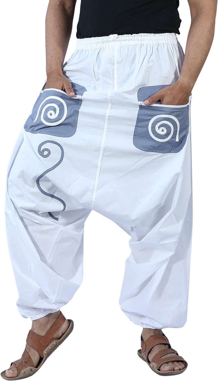 SARJANA HANDICRAFTS Men's Cotton Pockets Genie Yoga Max 63% OFF Baggy Harem Factory outlet