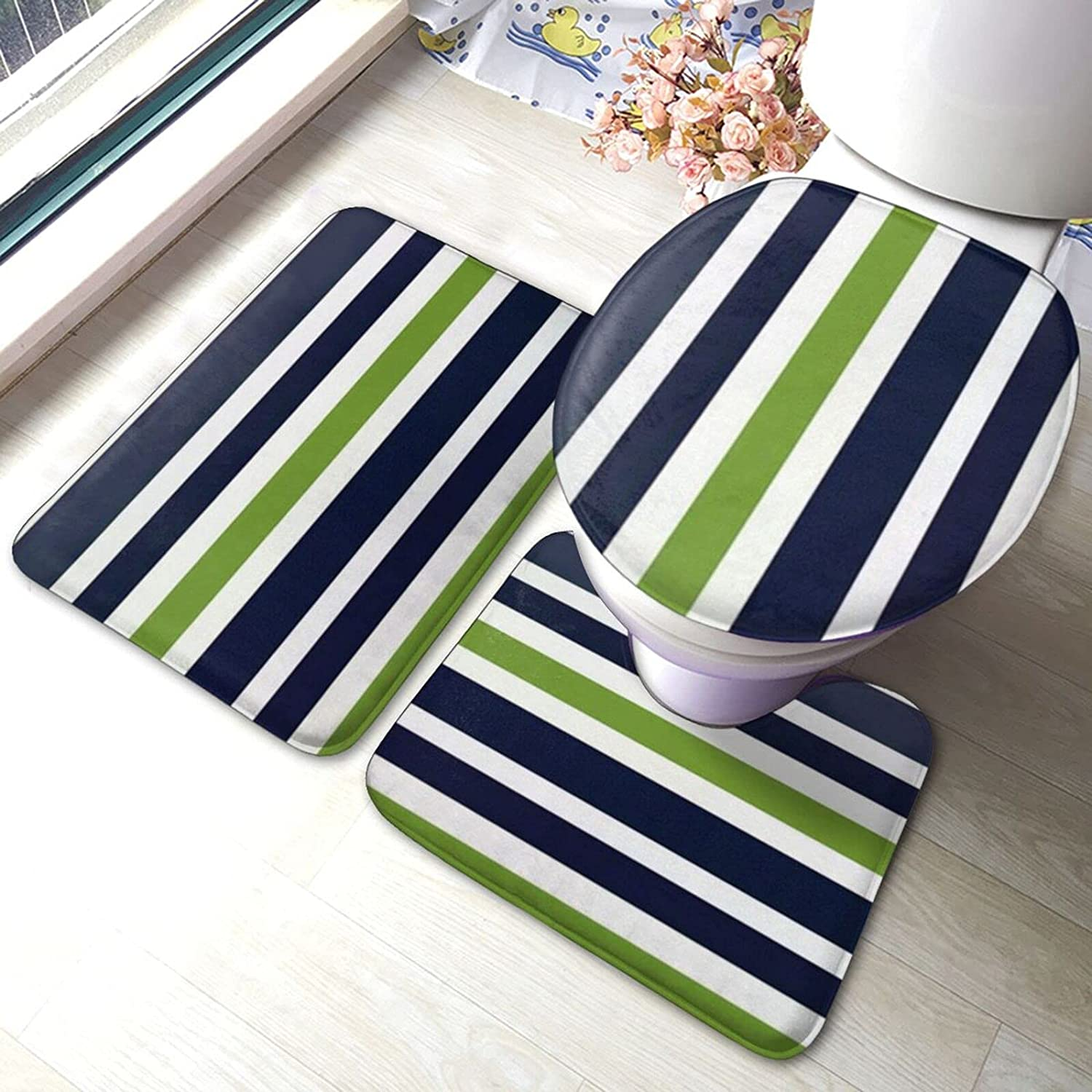 Bathroom Save money Antiskid Pad 3 Pieces Rugs All items free shipping 15.7x23.6inch Set