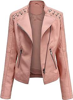 NEW Womens Faux Fur BIKER JACKET Crop FAUX SUEDE Ladies ZIP Size 8-16