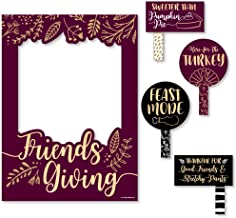 Big Dot of Happiness Elegant Thankful for Friends - Friendsgiving Thanksgiving Party Photo Booth Picture Frame and Props - Printed on Sturdy Material