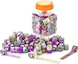 Washi Tapes Set - Decorative Masking MINI Washi Tapes for Scrapbooking DIY, decorating, Lamp, Cards, Party Supplies