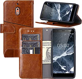 Nokia 2.1 Case,Nokia 2.1 Wallet Case,YEEGG Wallet Case for Nokia 2.1(2018)[Stand Feature] Protective PU Leather Flip Cover with 2 Credit Cards Slot,Magnetic Closure. Nokia 2.1(2018) Brown