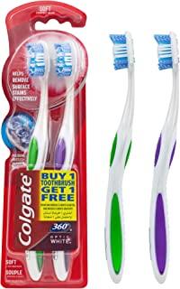 Colgate Toothbrush Optic White 360 Soft 1 plus 1 free