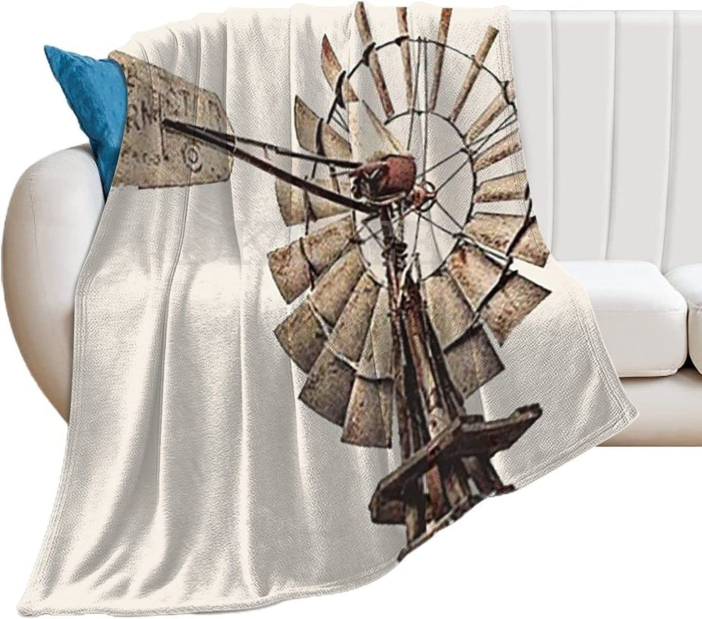 DKISEE Decorative Throw Columbus Mall Blanket Nashville-Davidson Mall for Adults Kids or Farm Rural Ho