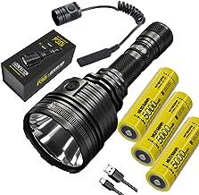 NITECORE Lanterna de busca de alta saída P30i i-Generation 21700 – 2000 lúmens, 1000 metros, com cabo USB Eco-Sensa TypeC ...