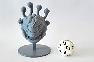 HERO Creations - La Louvve 3D Beholder Miniature for Dungeon and Dragons Pathfinder (Gray)